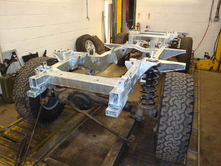 defender galvanised chassis