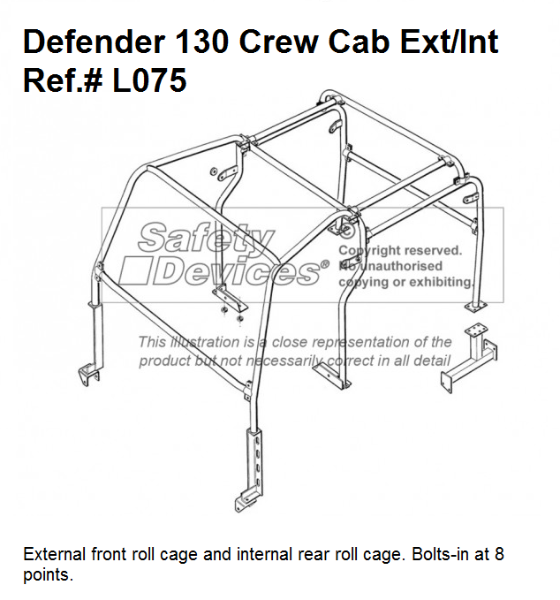 Roll Cages For 90 110 And 130 Land Rover Defender