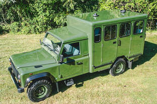 Defender 130 Gun Bus Conversion